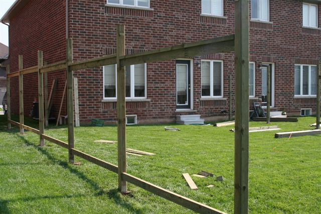 Building a wood fence