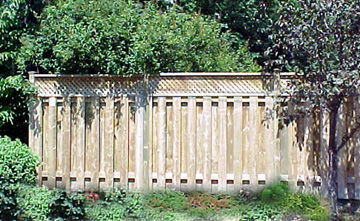 lattice fence, fence designes, how to, fence picture